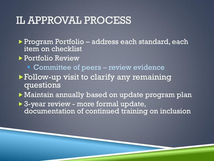 IL Approval process
