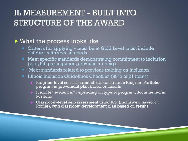 IL Measurement - Built into