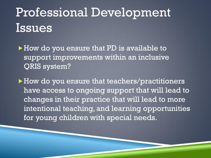 Professional Development Issues