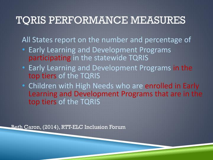 TQRIS Performance Measures