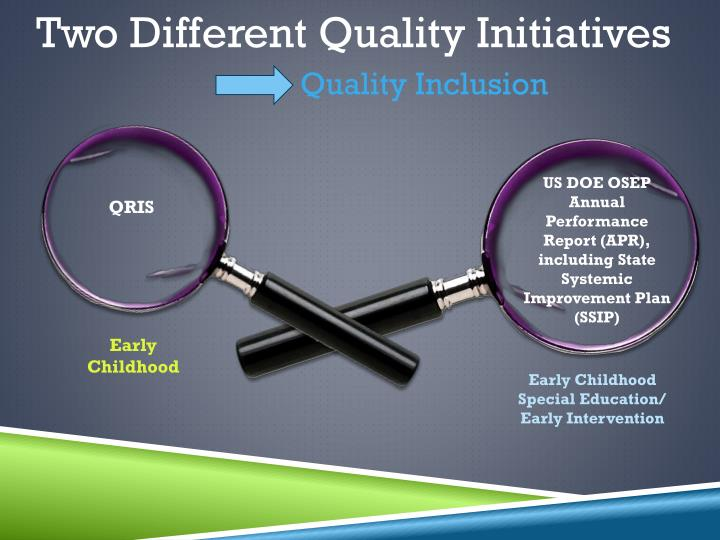 Two Different Quality Initiatives