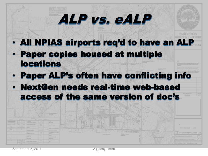 ALP vs.