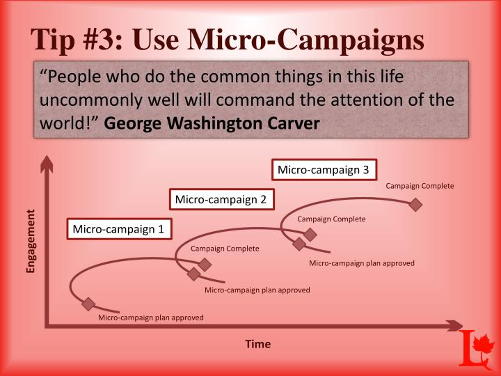 Tip #3: Use Micro-Campaigns
