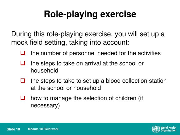 Role-playing exercise