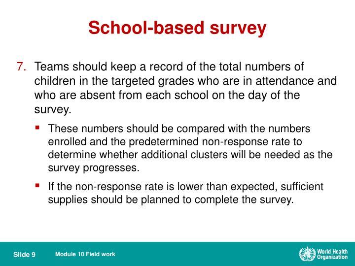 School-based survey
