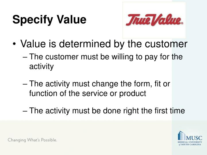 Specify Value