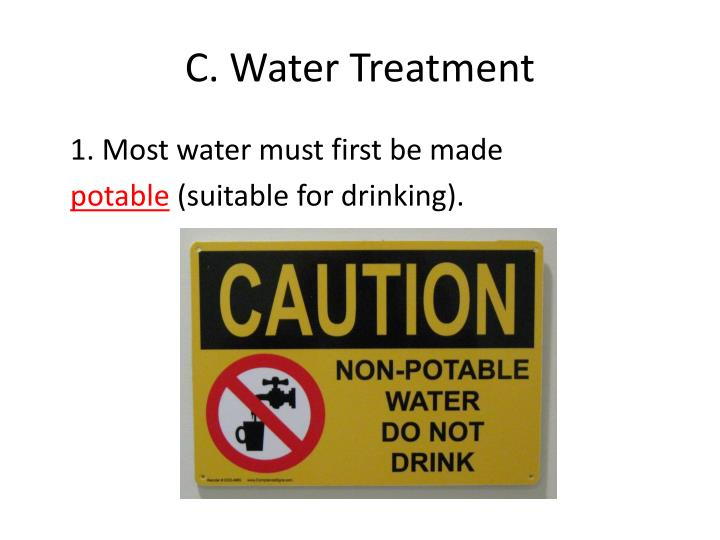 C. Water Treatment