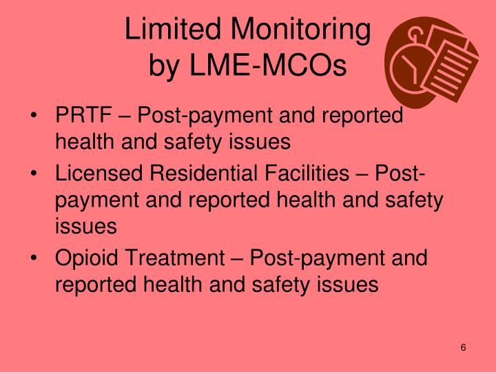Limited Monitoring