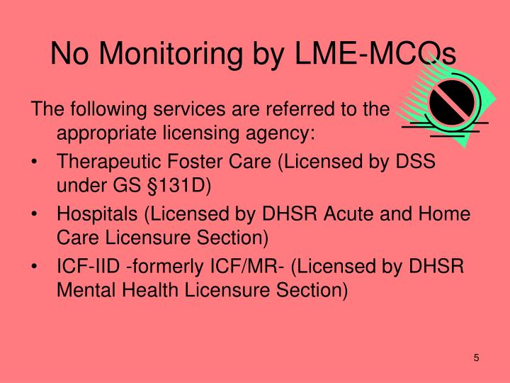 No Monitoring by LME-MCOs