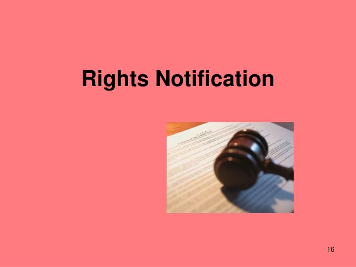 Rights Notification