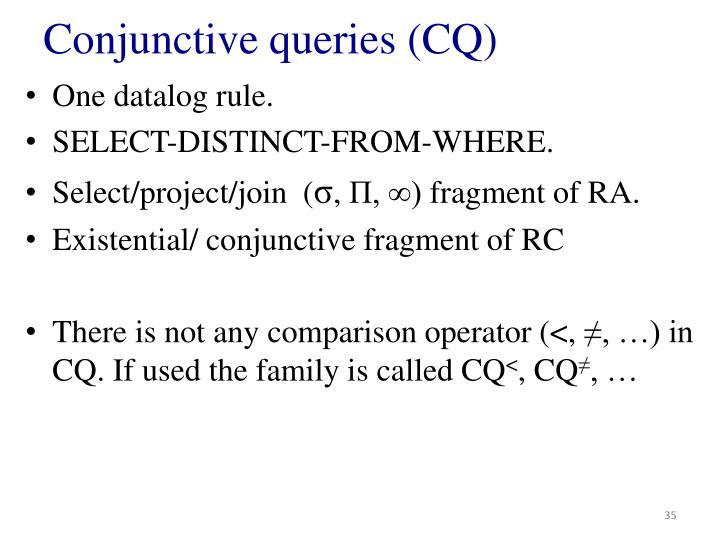 Conjunctive queries (CQ)