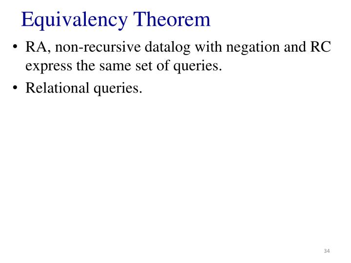 Equivalency Theorem