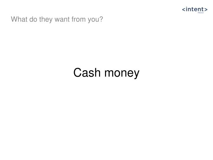Cash money