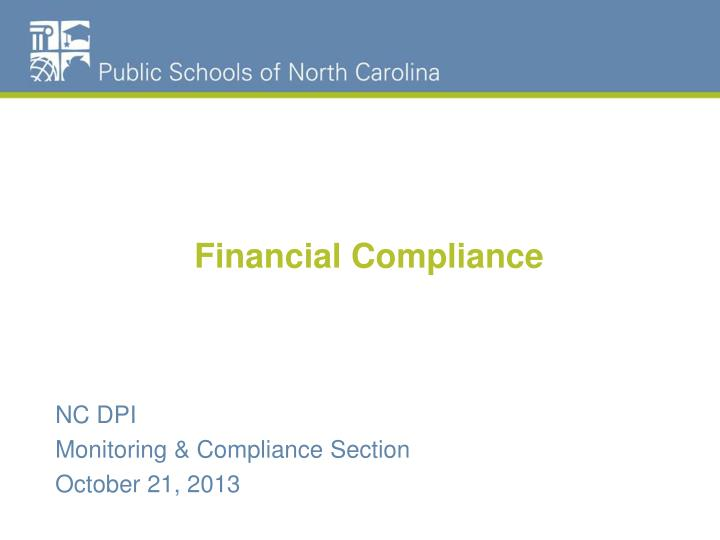 Financial compliance