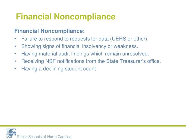 Financial Noncompliance