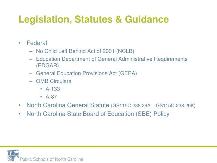 Legislation, Statutes
