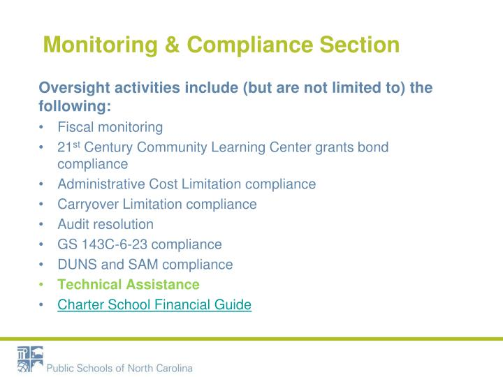 Monitoring & Compliance Section