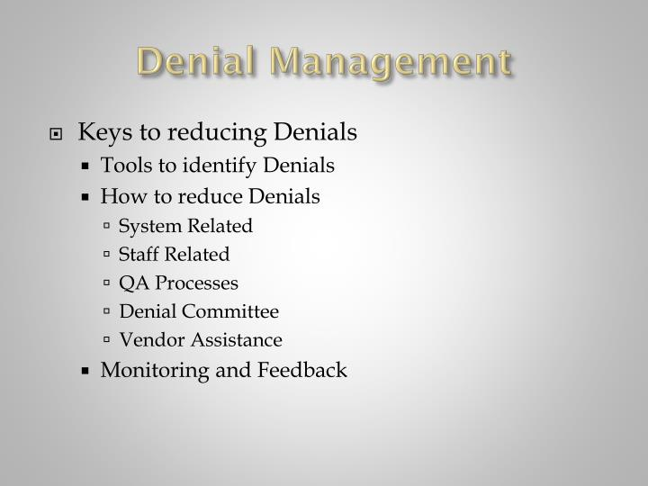 Denial management1