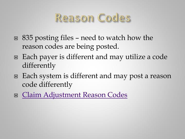 Reason Codes