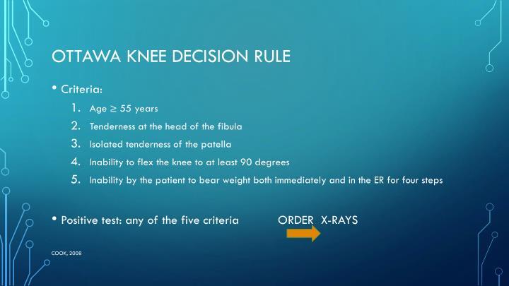 Ottawa Knee Decision