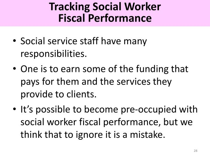 Tracking Social Worker