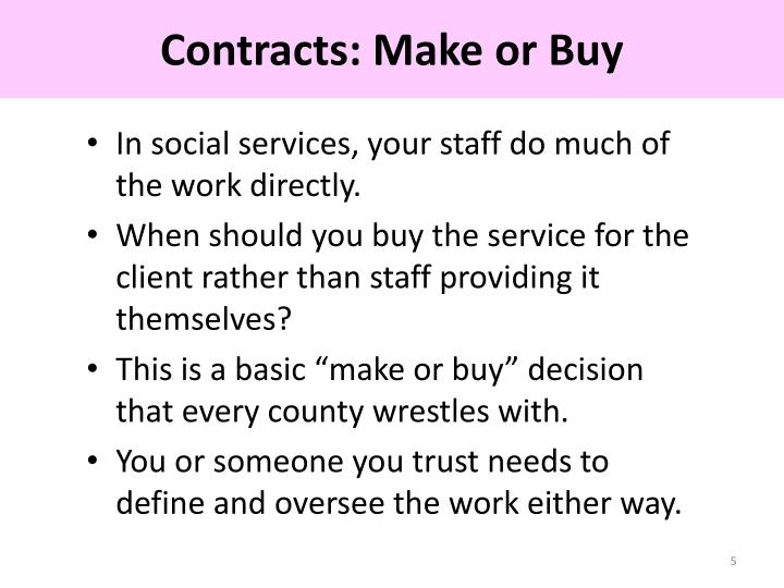 Contracts: Make or Buy