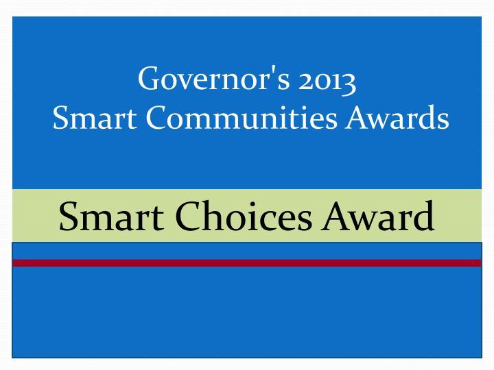 Smart Choices Award