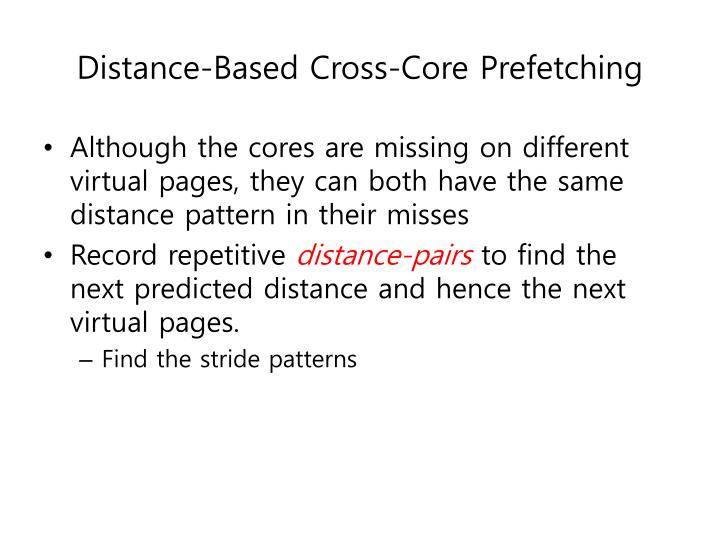 Distance-Based Cross-Core Prefetching