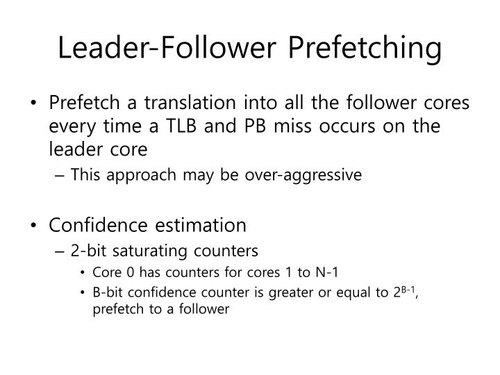 Leader-Follower Prefetching