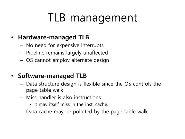 TLB management