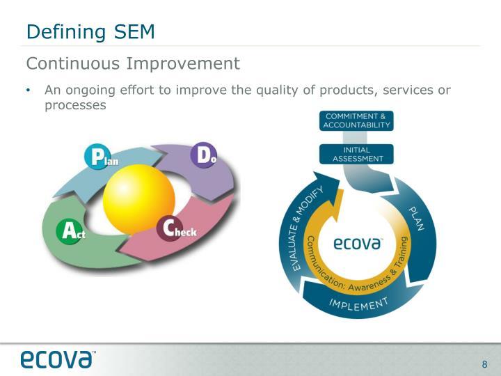 Defining SEM