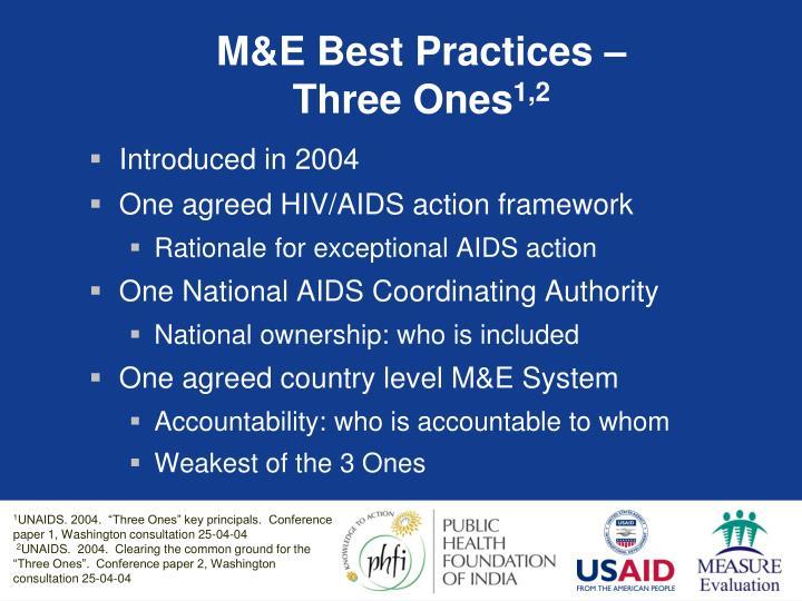 M&E Best Practices –