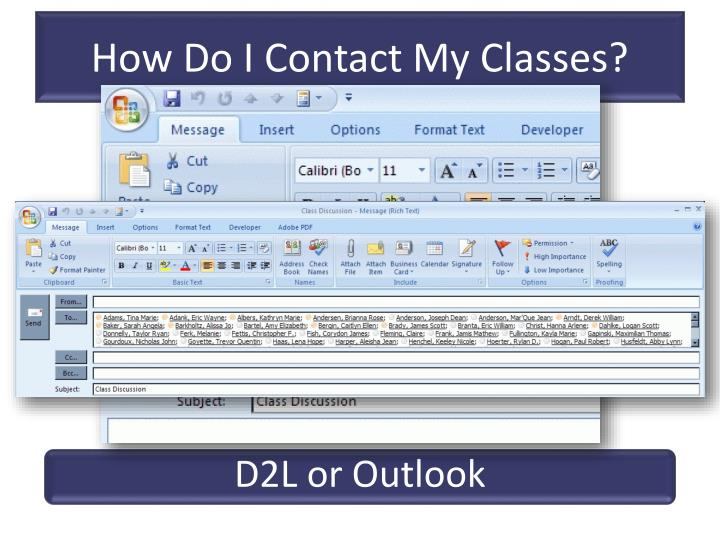 How Do I Contact My Classes?
