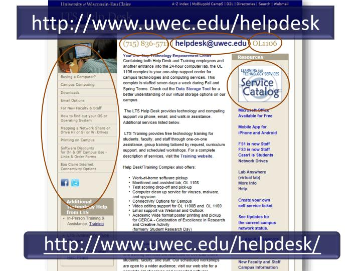 http://www.uwec.edu/helpdesk