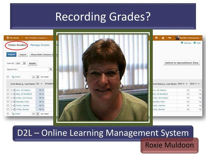 Recording Grades?