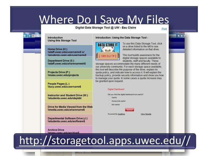 Where Do I Save My Files