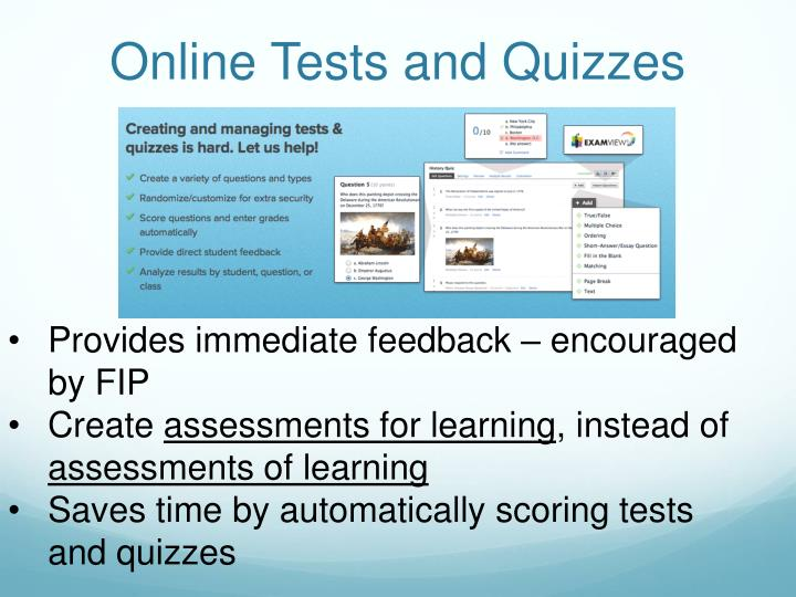 Online Tests and Quizzes