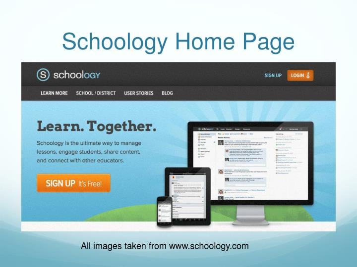 Schoology home page