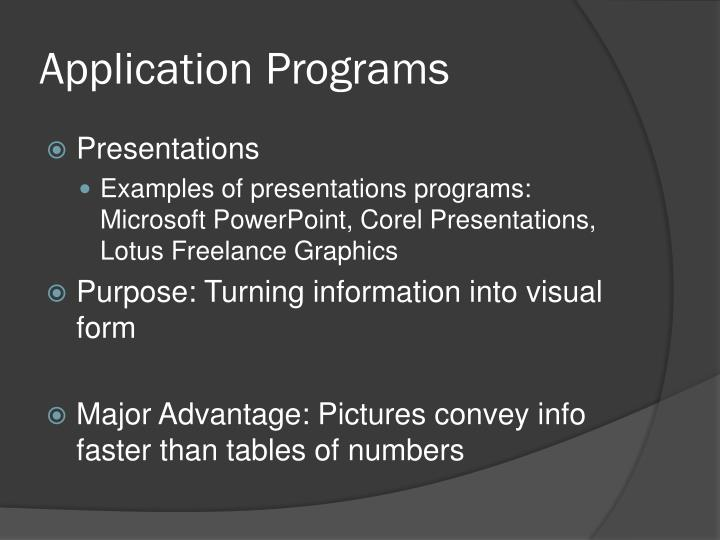 Application Programs