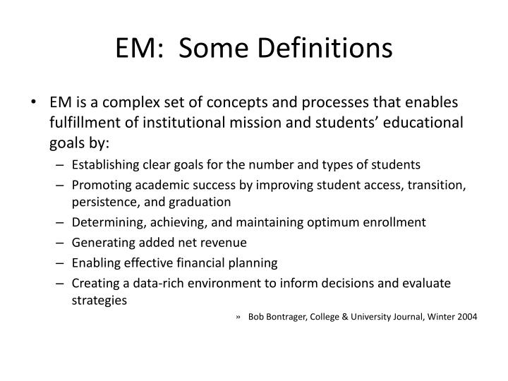 Em some definitions1