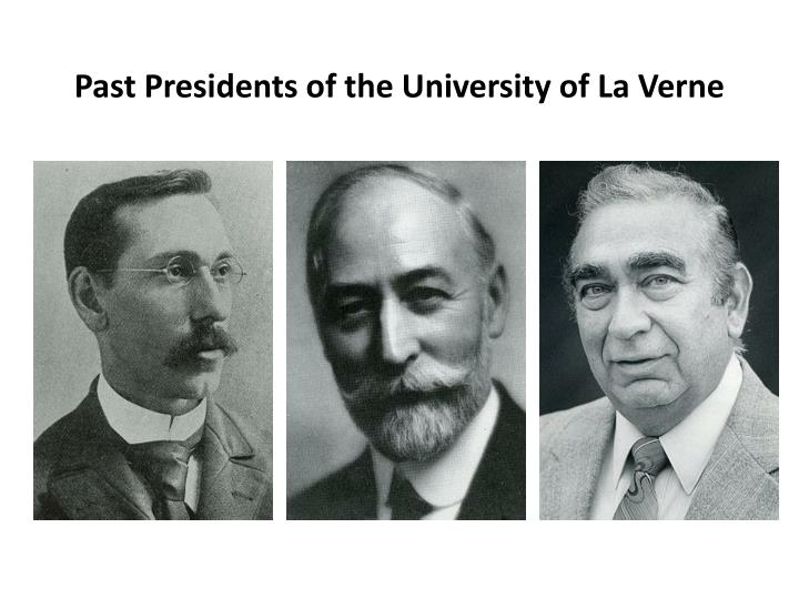 Past Presidents of the University of La Verne