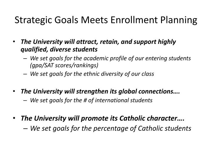 Strategic Goals Meets Enrollment Planning