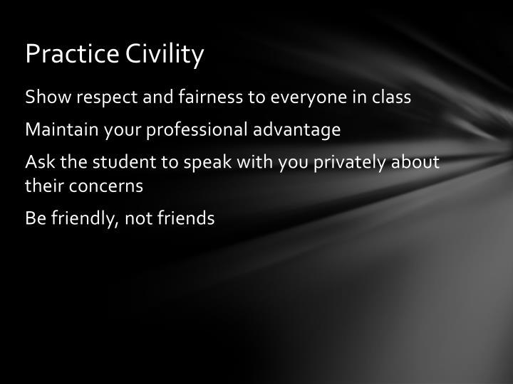 Practice Civility
