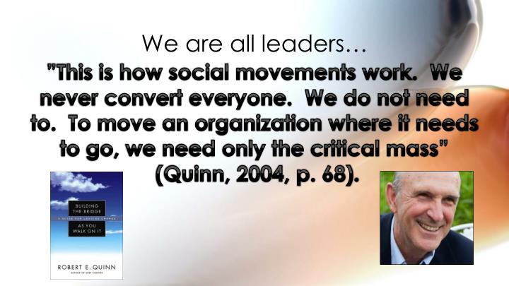 We are all leaders…