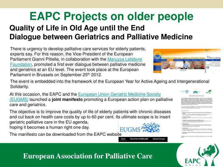 EAPC Projects on older people