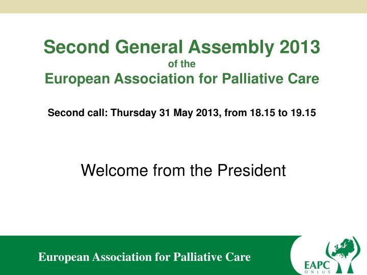 Second General Assembly 2013