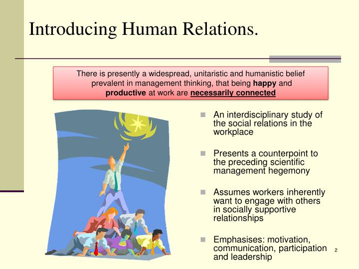 Introducing human relations