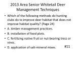 2013 area senior whitetail deer management techniques10