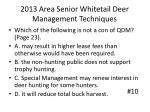 2013 area senior whitetail deer management techniques9