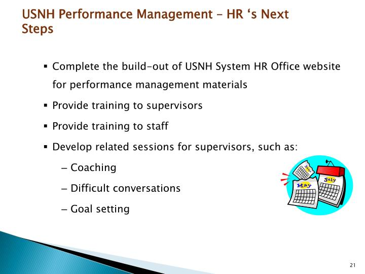 USNH Performance Management – HR 's Next Steps